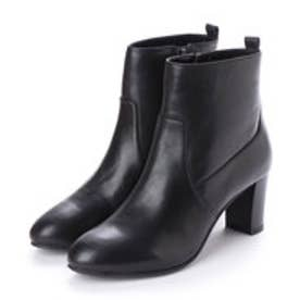 マリー ファム Marie femme 【スポンジ入り】シンプルショートブーツ (ブラック)