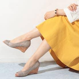 モード エ ジャコモ カリーノ MODE ET JACOMO carino モードエジャコモカリーノ【高機能】チュールオープントゥパンプス (シルバー)