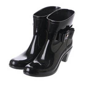 パラーレ parare 【レイン対応】リボンショートブーツ (ブラック)