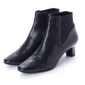 リズ ラフィーネ Riz raffinee フェミニンサイドゴアショートブーツ (ブラック)
