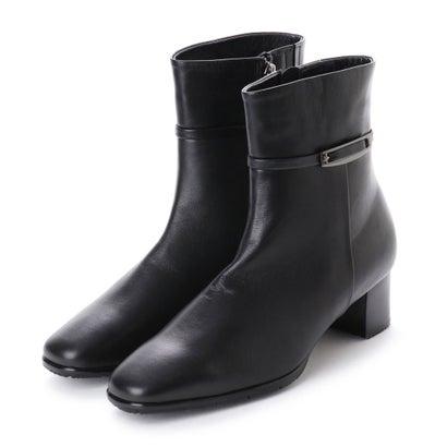 リズ コンフォート Riz Comfort シープレザーショートブーツ (ブラック)