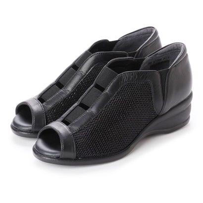 リズ コンフォート Riz Comfort リズコンフォート オープンパンプス (ブラックコンビ)