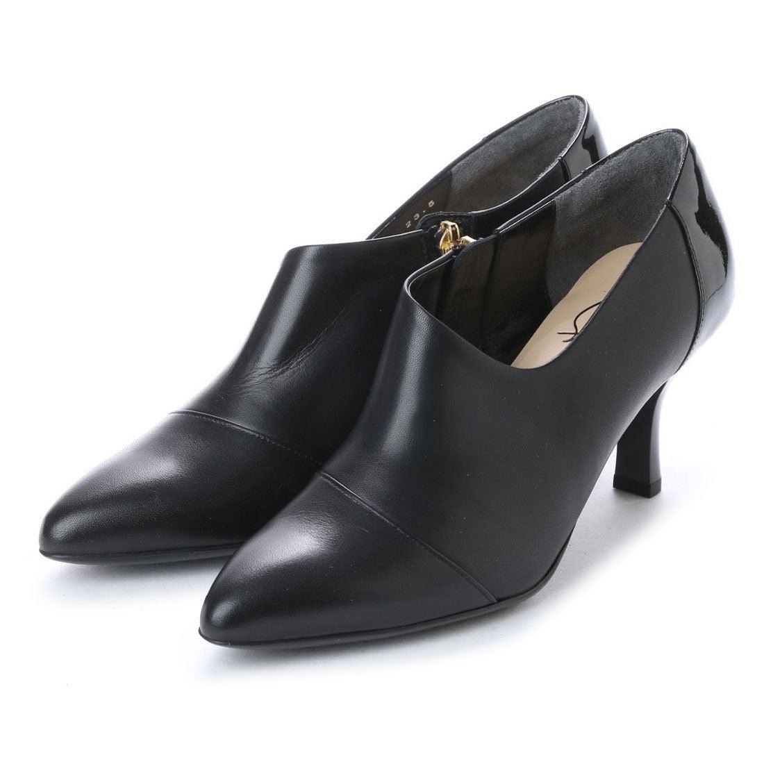 ロコンド 靴とファッションの通販サイトスタイルラボ STYLE lab ソフトレザーポインテッドトゥブーティ (ブラック)