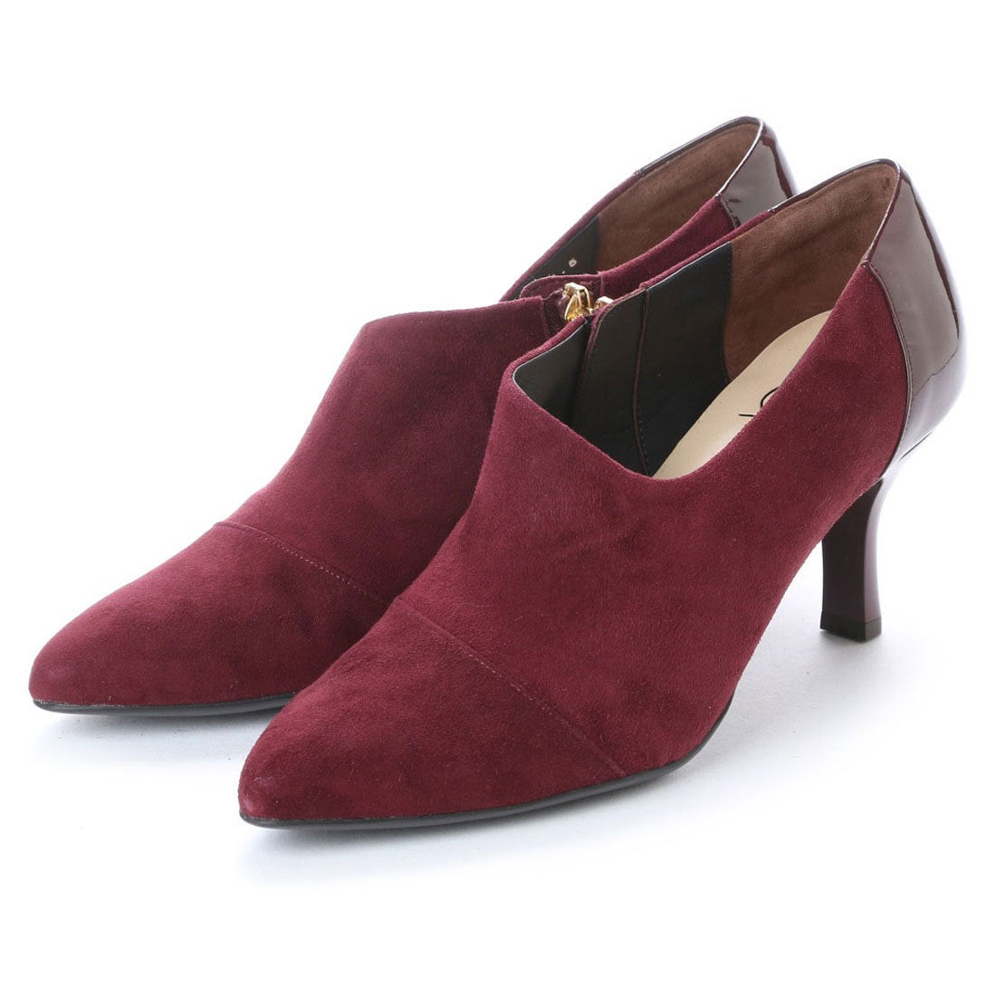 ロコンド 靴とファッションの通販サイトスタイルラボ STYLE lab ソフトレザーポインテッドトゥブーティ (ワイン)