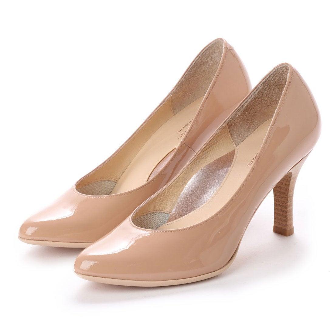 ロコンド 靴とファッションの通販サイトスタイルラボ STYLE lab 【高機能】ポインテッドトゥプレーンパンプス (ベージュエナメル)