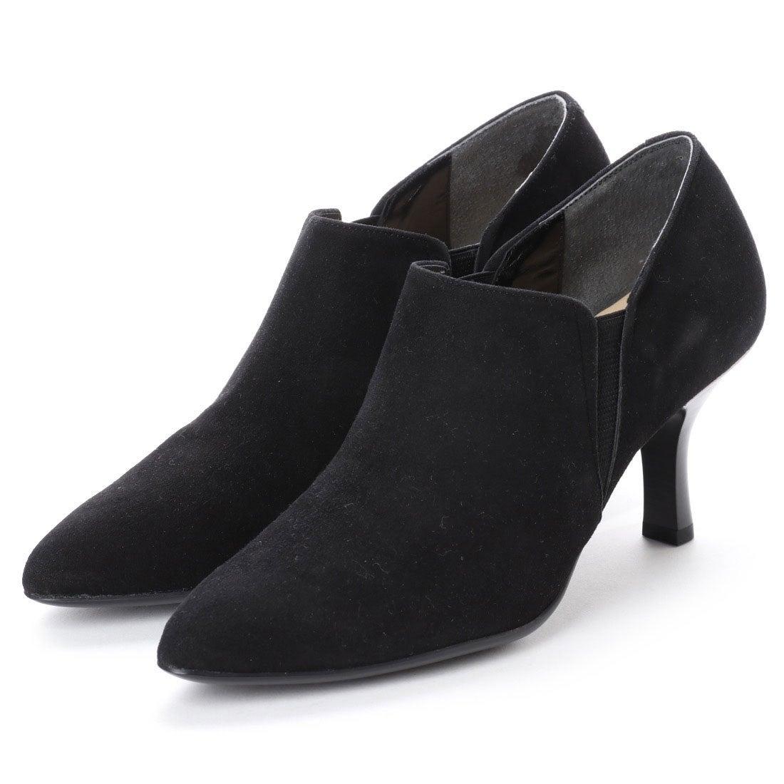 ロコンド 靴とファッションの通販サイトスタイルラボ STYLE lab エレガントサイドゴアブーティ(ブラックスエード)