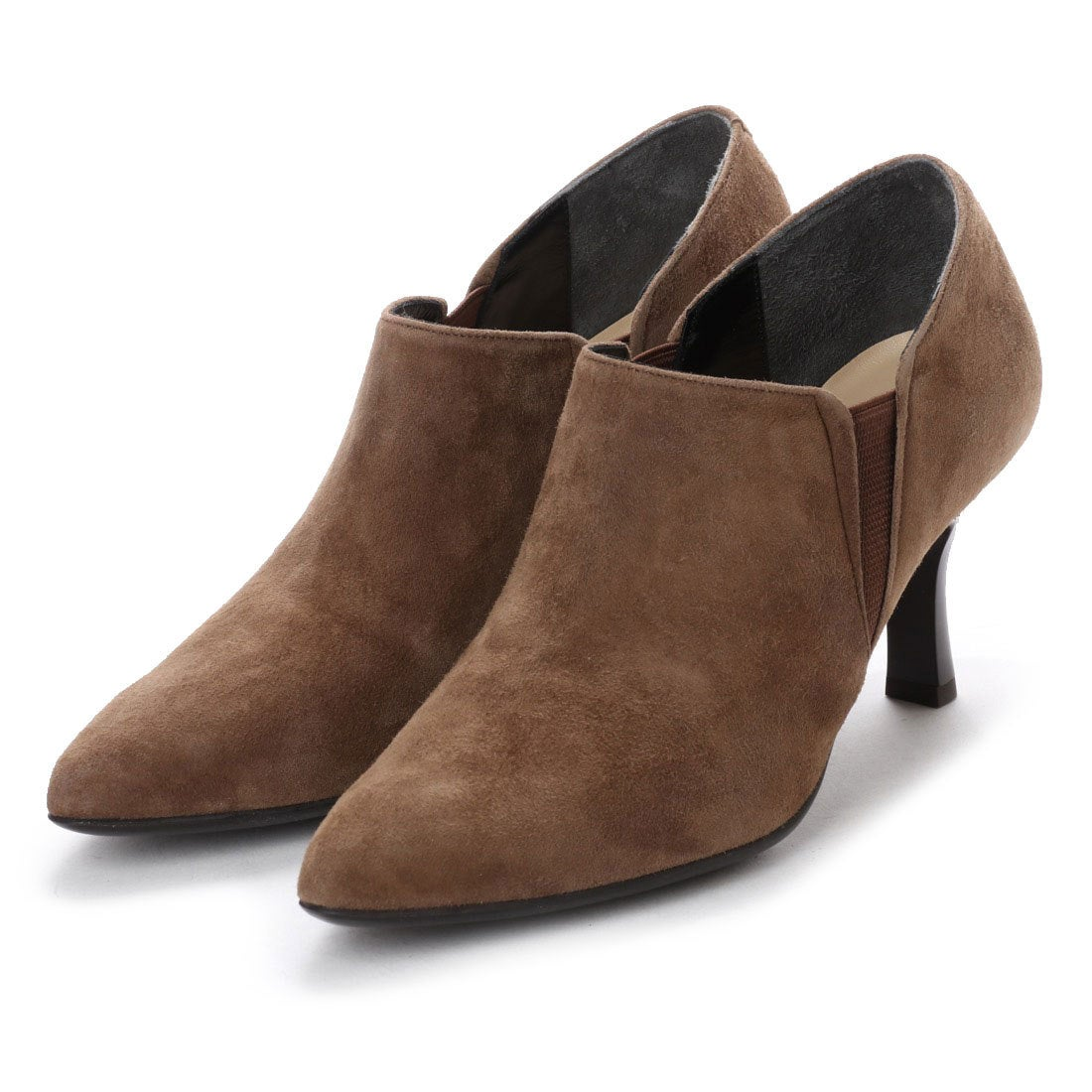 ロコンド 靴とファッションの通販サイトスタイルラボ STYLE lab エレガントサイドゴアブーティ(キャメルスエード)