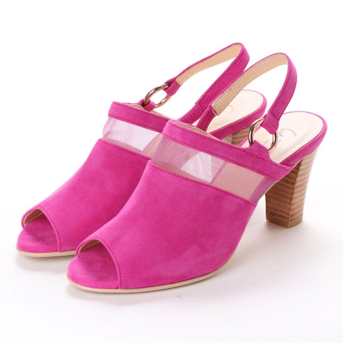 ロコンド 靴とファッションの通販サイトスタイルラボ STYLE lab チュールコンビカバードサンダル (ピンクスエード)