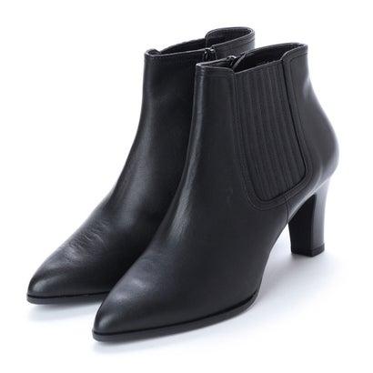 スタイルラボ STYLE lab 【全天候対応】シンプルサイドゴアショートブーツ (ブラック)