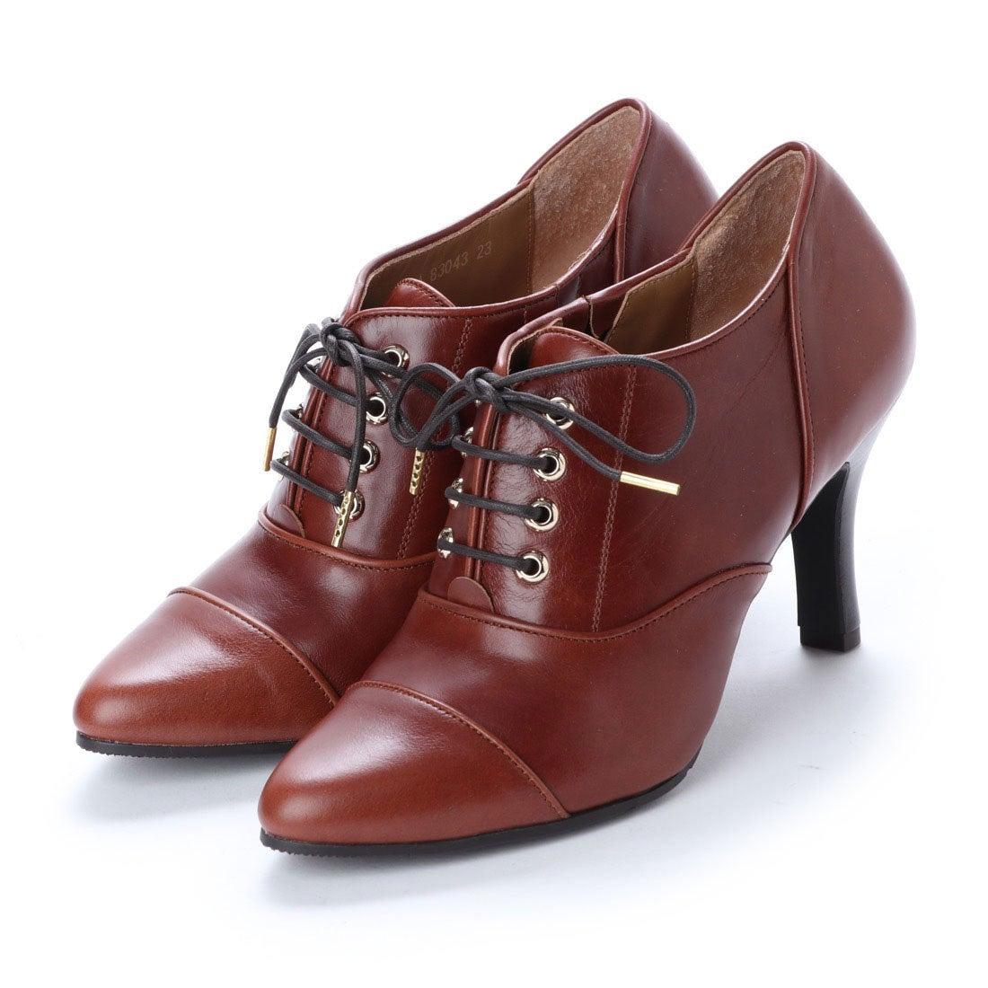 ロコンド 靴とファッションの通販サイトスタイルラボ STYLE lab 【高機能】レースアップポインテッドトゥパンプス (ブラウン)