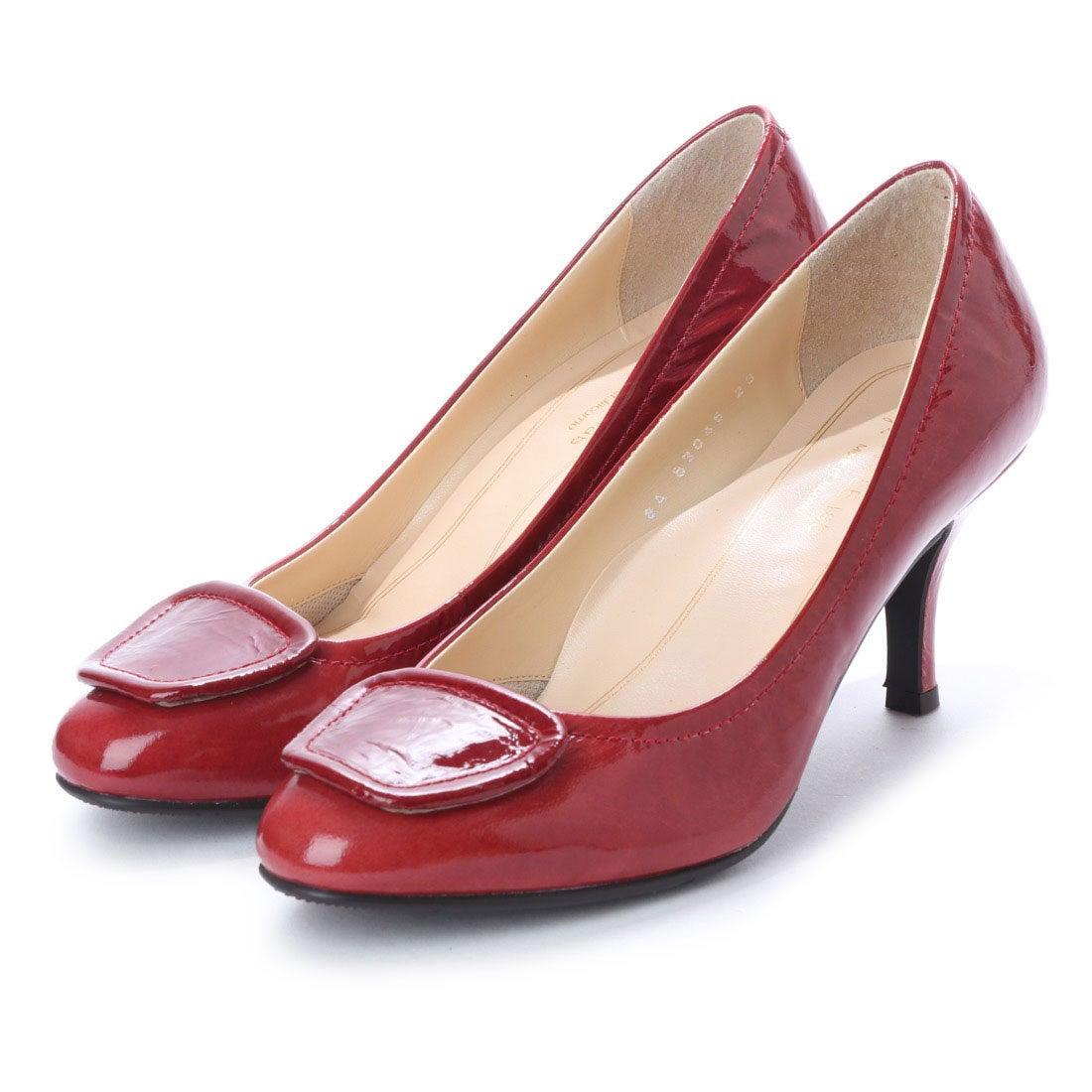 ロコンド 靴とファッションの通販サイトスタイルラボ STYLE lab 【高機能】クラシックモチーフラウンドトゥパンプス (レッドエナメル)