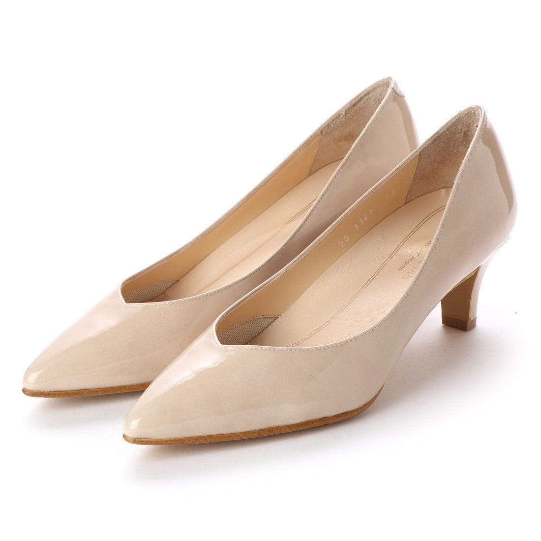 ロコンド 靴とファッションの通販サイトスタイルラボ STYLE lab パンプス (ベージュエナメル)