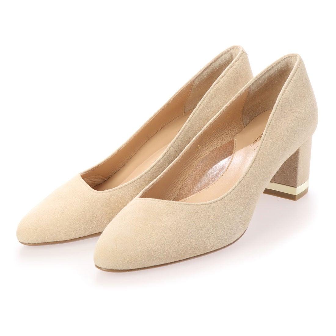 ロコンド 靴とファッションの通販サイトスタイルラボ STYLE lab アシンメトリーカットパンプス(ベージュスエード)