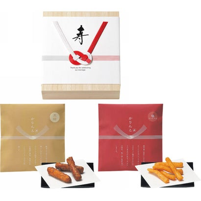 ‐寿‐ かりんと(黒糖・塩キャラメル)(桐箱入)【ラッピング不可】