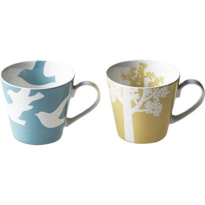 カグヤヒメ 木と鳥 ペアマグカップ