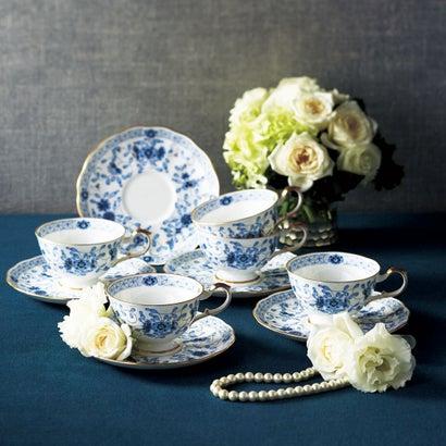 ナルミ ミラノ ティー碗皿5客セット