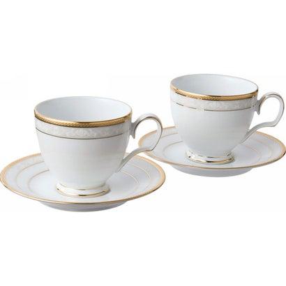ノリタケ ハンプシャーゴールド ペアティー・コーヒー碗皿