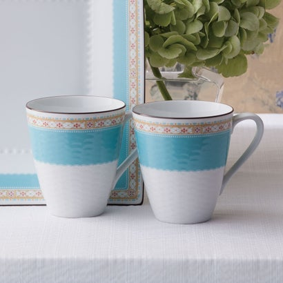 ノリタケ ハミングブルー ペアマグカップ