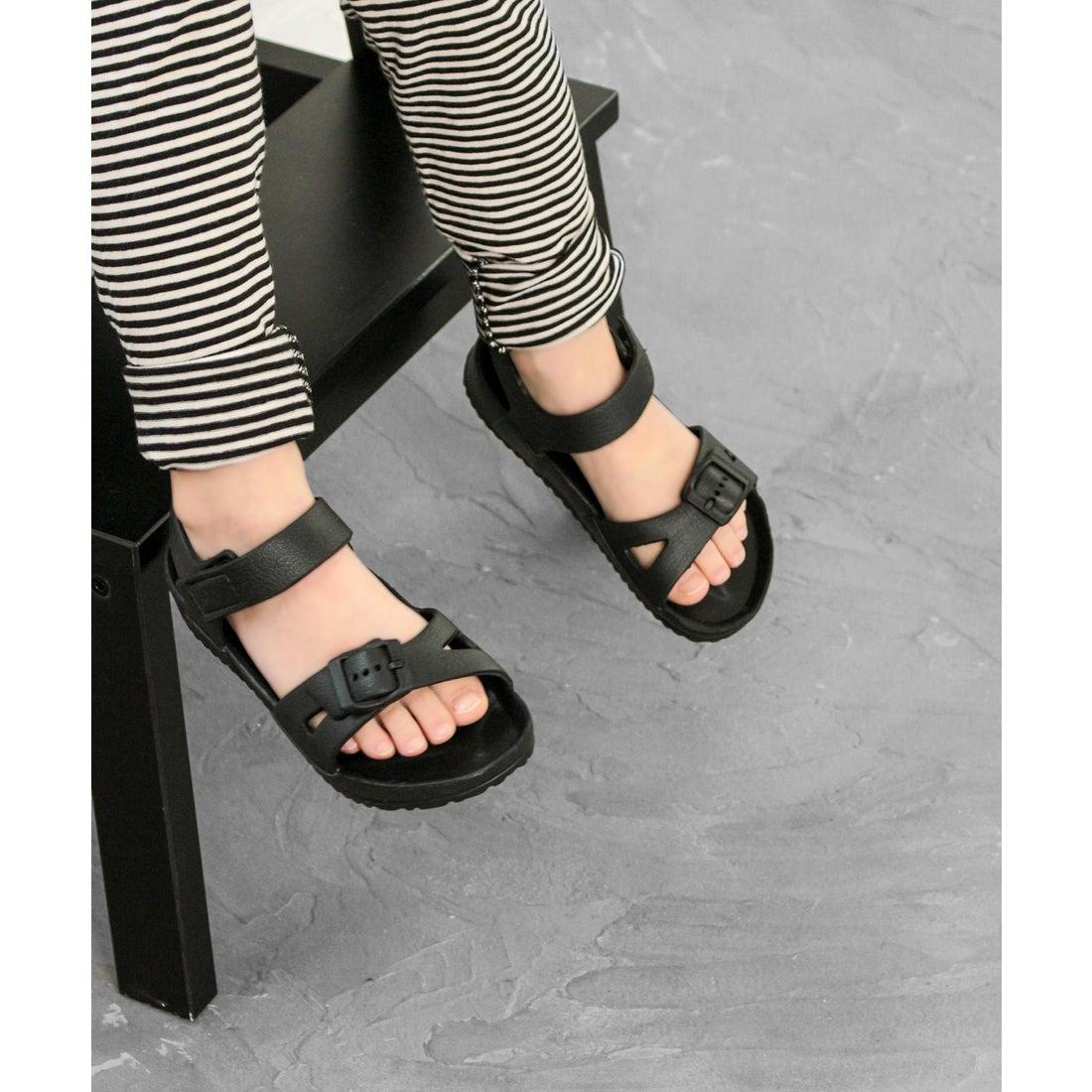 382af48989b15 キッズ ソロット SOROTTO EVAアンクルストラップサンダル ソロット SOROTTO (KIDS) (BLACK) -靴&ファッション通販  ロコンド〜自宅で試着、気軽に返品
