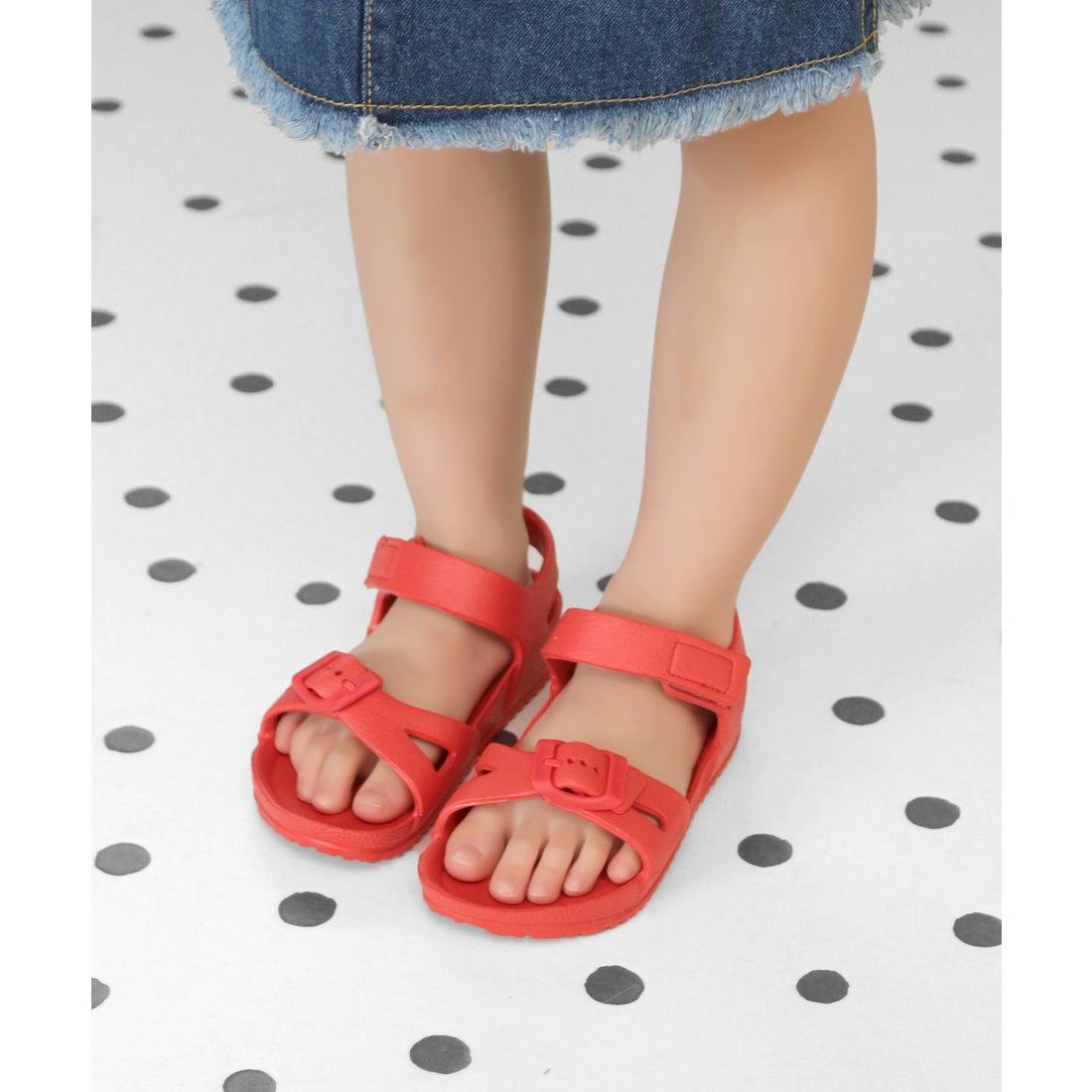 542e06f57b21c キッズ ソロット SOROTTO EVAアンクルストラップサンダル ソロット SOROTTO (KIDS) (RED) -靴&ファッション通販  ロコンド〜自宅で試着、気軽に返品