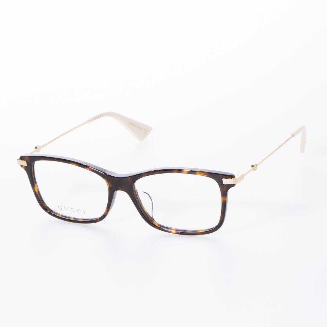 グッチ GUCCI メガネ 眼鏡 アイウェア レディース メンズ (デミブラウン/ゴールド)