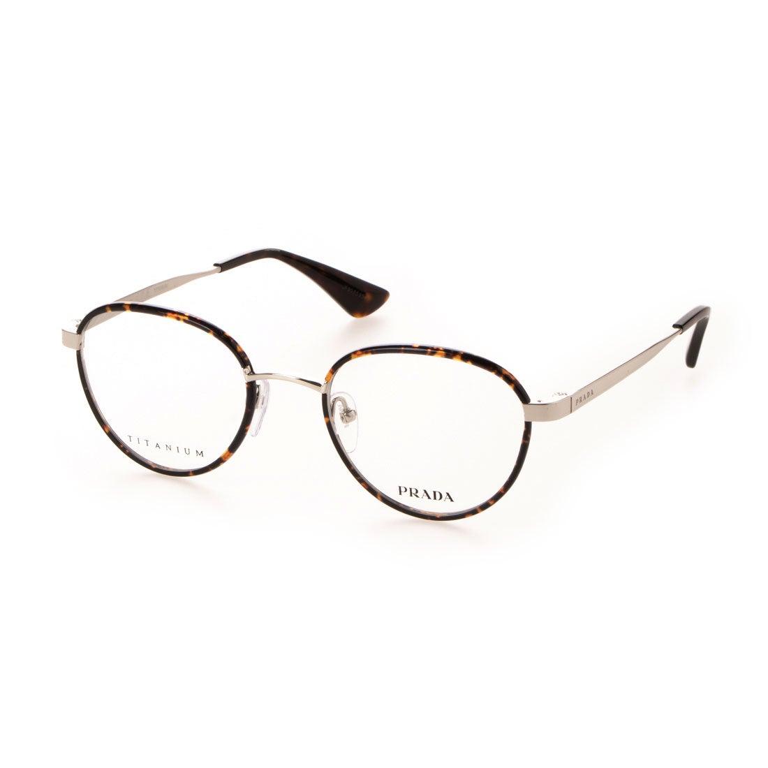 プラダ PRADA メガネ 眼鏡 アイウェア レディース メンズ (シルバー/トータス)