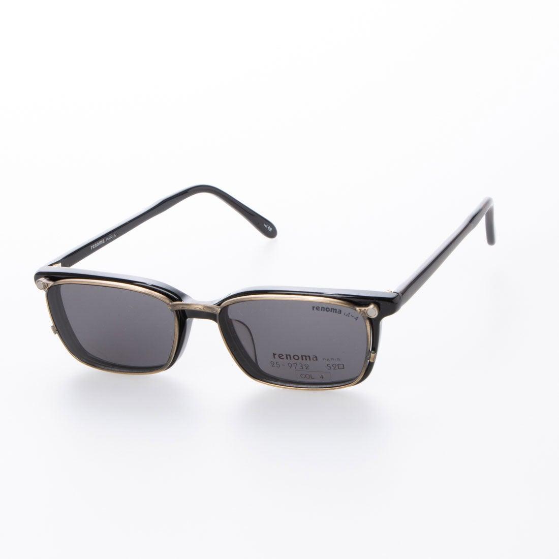 レノマ renoma メガネ 眼鏡 アイウェア サングラス クリップオン レディース メンズ (ブラック)