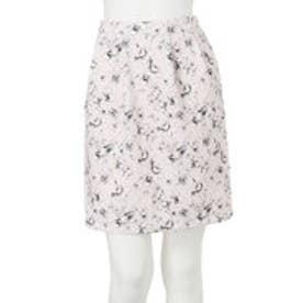 ダズリン dazzlin 【W】モノトーンフラワータイトスカート (ピンク)