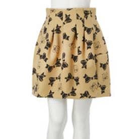 ダズリン dazzlin 【dazzlin】リボンボンディングスカート (ベージュ)