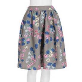 ダズリン dazzlin 【dazzlin】チューリップ膝丈切替スカート (カーキ)