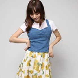 ダズリン dazzlin 【sc】デニムビスチェトップス (ブルー)