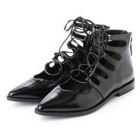 エモダ EMODA V CUT LACE UP BOOTS (BLK)