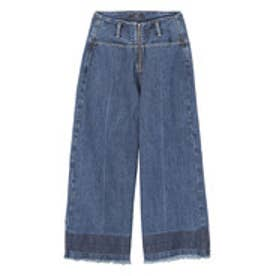 エモダ EMODA ZIP WIDE CROPPED DENIM (IDG)