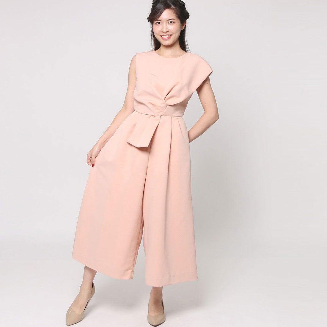 ラグナムーン LAGUNAMOON Ladyフォルムリボン クロップドパンツドレス (ピンク) ,靴&ファッション通販 ロコンド〜自宅で試着、気軽に返品