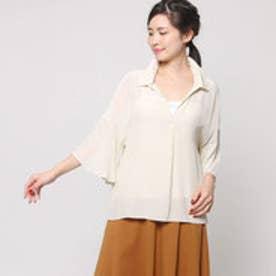 マーキュリーデュオ MERCURYDUO 衿裾フレアスリーブBL (アイボリー)