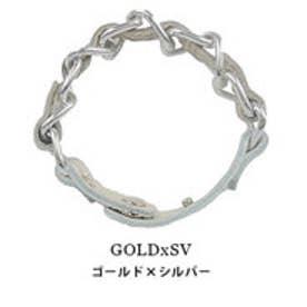 モードローブ MODE ROBE ブレスチェーンクールねじれブレスレット (ゴールド×シルバー)