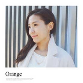 モードローブ MODE ROBE トライアングル天然石ピアス (オレンジ)