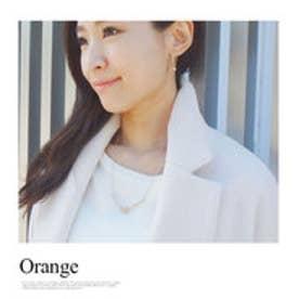 モードローブ MODE ROBE ナチュラルストーン天然石ネックレス (オレンジ)