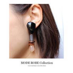 モードローブ MODE ROBE マーブルストーンアソートイヤリング (ブラック)【両耳】