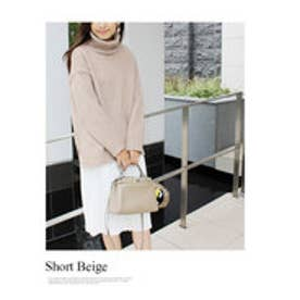 モードローブ MODE ROBE ニット×プリーツスカート レイヤードセット (スカート(WHT)×S(BE))