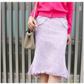 モードローブ MODE ROBE ツイードスカート (ピンク)