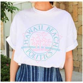 モードローブ MODE ROBE ハワイプリントTシャツ (ホワイト)