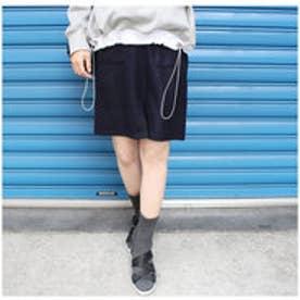 モードローブ MODE ROBE ポケット台形スカート (ネイビー)