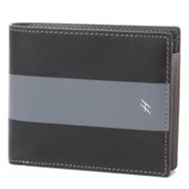 ヘレナ HELENA 小銭入れ付き二つ折り財布 (クロ×グレー)
