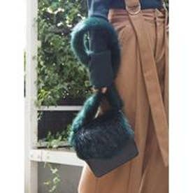 MURUA Fake fur SHOLDER BAG(グリーン)