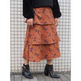 MURUA Milly flowerスカート(ブラウン)