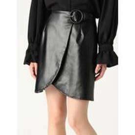 MURUA リングバックルミニスカート(ブラック)