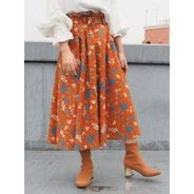 MURUA MODERN flowerフレアスカート(マルチカラー)