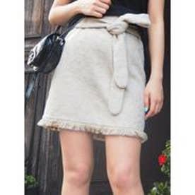 MURUA Rug flower Miniスカート(ホワイト)
