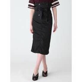 MURUA ナイロンツイルコルセットスカート(ブラック)